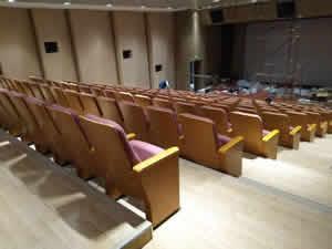 广州琶洲某知名企业会议厅礼堂椅定制图片